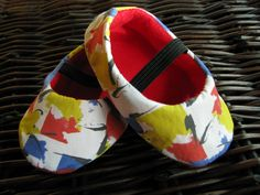 Colorful handmade Mondrian inspired baby shoes unique by bootki