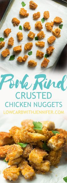 Crunchy pork rinds, smoky seasoning, and juicy chicken...these pork rind crusted chicken nuggets are so flavorful and easy to make. My kids love them!