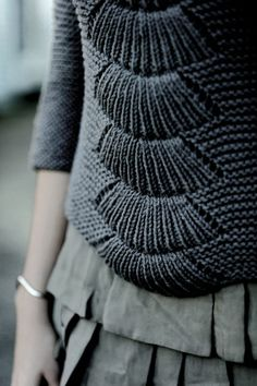 I love the mix of textures and authentic materials. This sweater is amazing, the graphite colour is just spectacular.