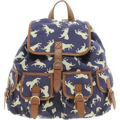 ASOS Horse Print Backpack ($49) found on Polyvore