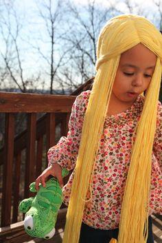 Tangled hair tutorial.  too cute.
