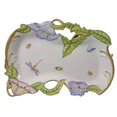 Anna Weatherley Flowers Pierced Tray | Gracious Style