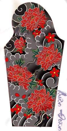 Tattoo Background, Japanese Tattoo Designs, Asian Tattoos, Japan Tattoo, Peonies Tattoo, Traditional Tattoo, Parfait, Inspiration, Clown Tattoo
