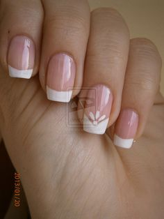 Must Have 130 French Nails Ideas - Best Nail Art Gel Nails French, French Manicure Designs, Nail Art Designs, French Manicures, French Nail Art, Nails Design, Pretty Nails, Fun Nails, Gorgeous Nails