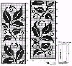 Filet Crochet Patterns of the Rug  Leaves