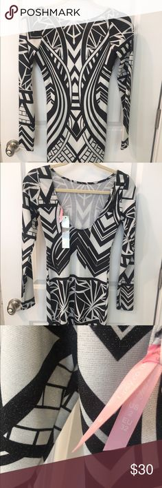Brand new Lipsy Dress New black and white tribal midi dress Lipsy Dresses Midi