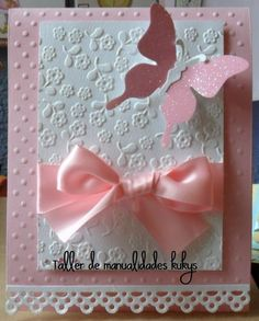Inspiring to make your happy day Wedding Cards Handmade, Baby Girl Cards, Craft Punches, Baby Shower Princess, 3d Cards, First Holy Communion, Card Patterns, Cricut Creations, 1st Birthday Parties