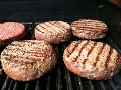 Great Burger:   1 lb lean hamburger 1/4 teaspoon garlic powder 1/4 teaspoon onion salt 1/4 teaspoon seasoning salt 1/2 teaspoon Worcestershire sauce 1 egg, beaten 8 single saltine crackers, crushed Form into quarter lb patties and grill on high heat with grill cover open for 4-5 minutes on first side. flip and cook for 3-4 minutes on other side.