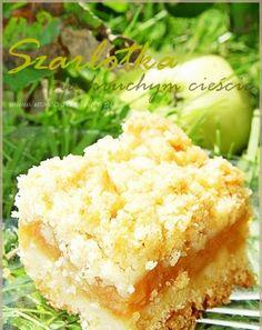 Składniki na ciasto: ·  3 szklanki mąki · ... Apple Cake Recipes, Dessert Recipes, Low Carb Recipes, Cooking Recipes, Eastern European Recipes, Carrot Cake Cheesecake, Sweets Cake, Bread Cake, Polish Recipes