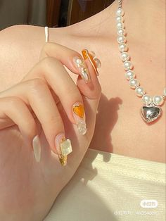 Soft Nails, Gel Nails, Cute Nails, Pretty Nails, Types Of Aesthetics, Orange Nails, Stylish Nails, Make Up, Instagram