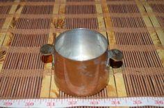 "Vintage Copper Mini Pot with Brass Handles 4 1/8""x2 1/8"""