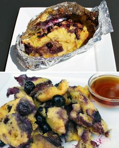 breakfast using leftover buns from the night before  Blueberry Breakfast Bake   19 Easy Breakfasts You Can Cook On A Campfire