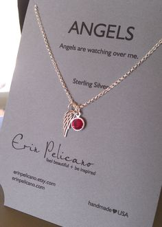 Angel Wing // Remembrance Jewelry // Inspirational by erinpelicano, $48.00