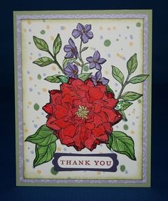 Stamp set - Peaceful Petals & Thank You Kindly Blendabilities - Cherry Cobbler, Wisteria Wonder, Old Olive, Daffodil Delight, Night Of Navy. Other - Crystal Effects