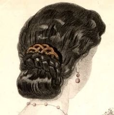 """Waterfall Hairstyle"" from a late-1850s French fashion magazine from the late 1850s."