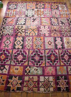 Vintage marokkanischer Teppich / Boujad Teppich von shopthereserve