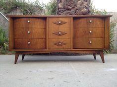 Los Angeles: ***MID CENTURY Modern CREDENZA DRESSER - $375 - http://furnishlyst.com/listings/156118