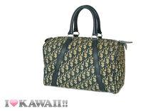Vintage Auth Christian Dior Trotter Boston Bag 30 Hand Purse Free Shipping! #ChristianDior #HandBag