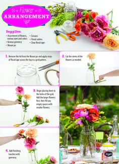 Floral arranging is made easy with this DIY!