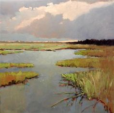 "Marsh by Mary Pratt -- oil painting | 48"" h x 48"" w"