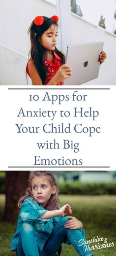 10 Apps For Anxiety to help Your Child Cope with Big Emotions #AnxietyApps #Apps #AnxietyHelp #Feelings #Anxiety