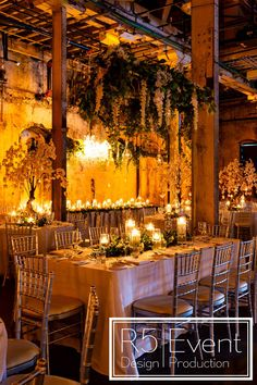 Beautiful wedding lighting at the Fermenting Cellar. We included lots of fresh flowers, cherry blossoms, candles, greenery, and chandeliers! By Event Design 🌸 Wedding Lighting, Event Lighting, Wedding Flower Decorations, Wedding Flowers, Crystal Candelabra, Event Company, Cherry Blossom Tree, Event Management, Bat Mitzvah