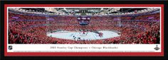 Chicago Blackhawks 2015 Stanley Cup Panoramic - Single Matted Frame $149.95