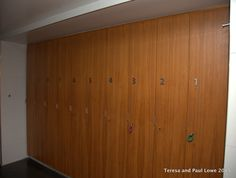 Beautiful wooden lockers to store your person items during your session at the Rock Spa at Hard Rock Hotel San Diego.