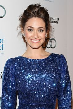 Emmy Rossum looks stunning in this gown #lulus #holidaywear