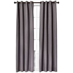 Gray blackout curtains for guest room