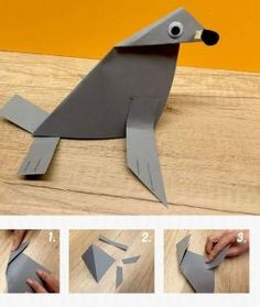 paper monk seal craft