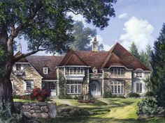 French Country House Plan with 4258 Square Feet and 5 Bedrooms(s) from Dream Home Source   House Plan Code DHSW50357