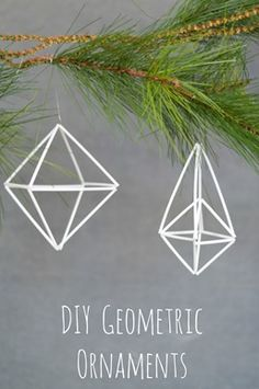 How To Make A Basic Geometric Himmeli Ornament - DIY Christmas Crafts and Decorations Diy Christmas Ornaments, Holiday Crafts, Christmas Decorations, Ornament Tutorial, Wreath Tutorial, Diy Tutorial, All Things Christmas, Winter Christmas, Christmas Tree