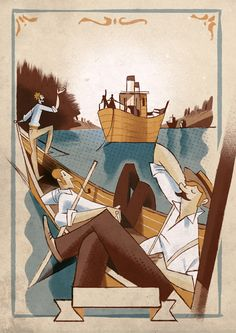 """""""Three men in a boat"""" by Jerome K. Jerome"""