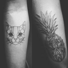 Geomatric tatto! Mandala pineapple tattoo