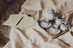 A letter and long breakfast in bed. ~ Laura Makabresku