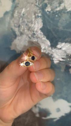 Ear Jewelry, Gold Jewelry, Fine Jewelry, Jewelry Making, Jewellery, Gold Plated Earrings, Dangle Earrings, Diamond Earrings, Sapphire Rings
