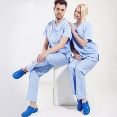 New Arrival!Hospital Doctor Nurse Medical Work Wear Clothing Split Man Women V-neck Surgical Scrub Sets Seperated Uniforms,J24