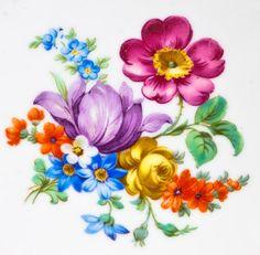 Is Porcelain China Info: 3164014677 Botanical Flowers, Botanical Prints, Beautiful Flower Arrangements, Beautiful Flowers, Diy Art Projects Canvas, Art Grants, Alcohol Ink Crafts, Decoupage Vintage, Motif Floral