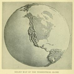 Relief map of the terrestrial globe.Proceedings of the American Philosophical Society. 1913.