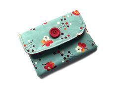 Fabric Wallet/Purse Front pocket  Velcro by moodycowdesigns, £9.50