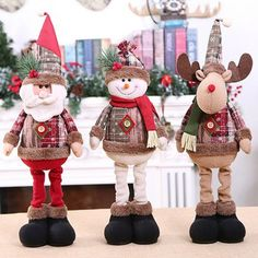 Christmas Dolls Xmas Tree Decor New Year Ornament Reindeer Snowman Santa Claus Standing Doll Decoration Merry Christmas Merry Christmas, Christmas Tree Toy, Christmas Ornaments, Christmas Figurines, Xmas Tree Decorations, Christmas Characters, Doll Crafts, Christmas Gifts, Holiday Gifts