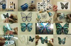 Butterfly craft from pop bottle