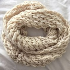 Infinity scarf Off white knit infinity scarf Accessories Scarves & Wraps