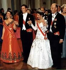 the Royal Family of Norway. 1993. Silver wedding of King Harald and Queen Sonja