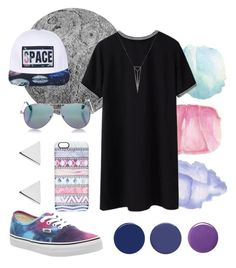 """""""Barbelune"""" by cathoudum ❤ liked on Polyvore featuring Wendover Art Group, Eva Fehren, Cutler and Gross, Casetify, Vans, Smith & Cult, RGB Cosmetics, Balmain and Jennifer Meyer Jewelry"""