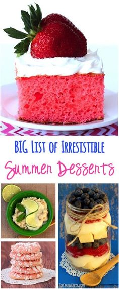 BIG List of Irresistible Summer Dessert Recipes! ~ from TheFrugalGirls.com ~ a huge collection of the perfect desserts to serve up on those lazy summer days!