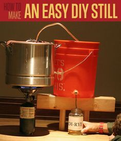 Want to learn how to make moonshine? Become one of the moonshiners this moonshine still DIY. Survival Life is the best source for prepper survival gear. Want to learn how to make moonshine? Become one of the moonshiners this moonshine still DIY. Survival Project, Survival Life, Homestead Survival, Survival Food, Survival Prepping, Survival Skills, Survival Equipment, Emergency Preparedness, Survival Items
