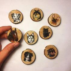 Custom pet pendant,Wooden hand painted art pendant, perfect gift. by hoyhenenkevytta on Etsy