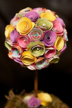 Spring Paper Flower Topiary